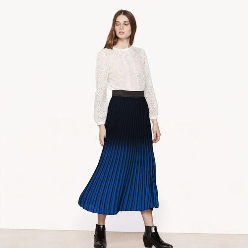 Long tie-dye effect pleated skirt - Skirts & Shorts - MAJE