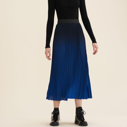 Pleated tie-dye skirt - Skirts & Shorts - MAJE