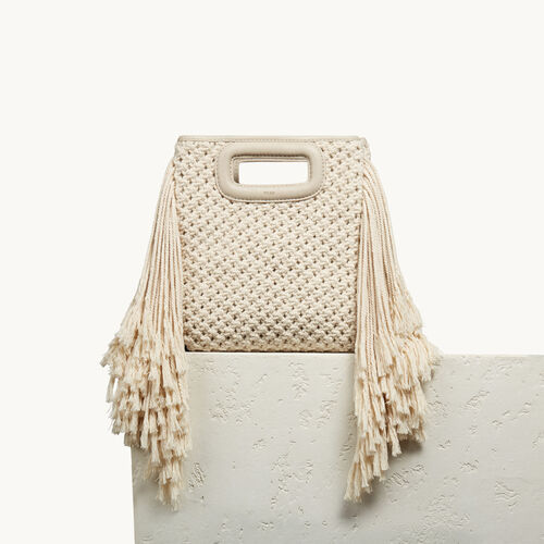 M bag in knitted cotton - Bags - MAJE