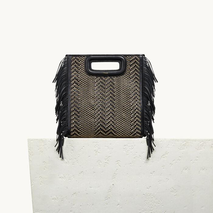 Leather M bag with braiding - M bag - MAJE