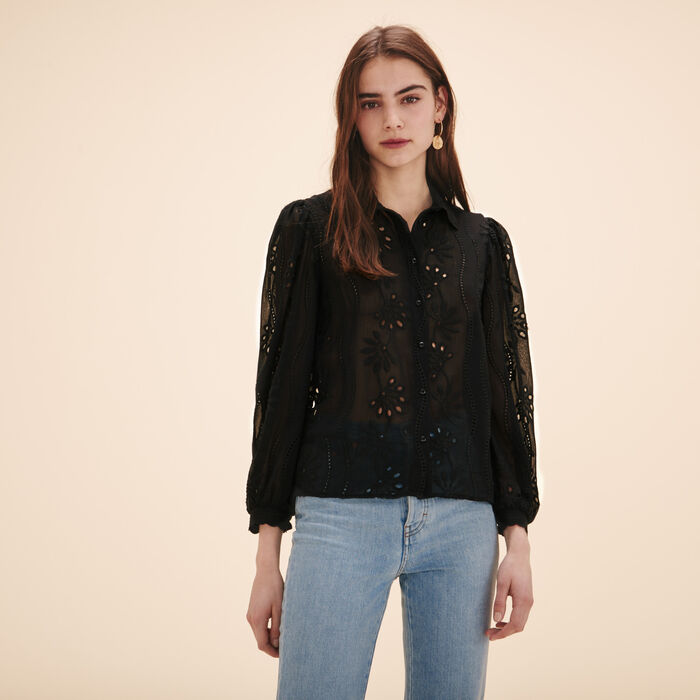 Lace shirt -  - MAJE