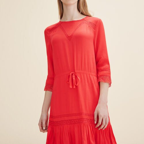 Floaty dress with lace - Dresses - MAJE