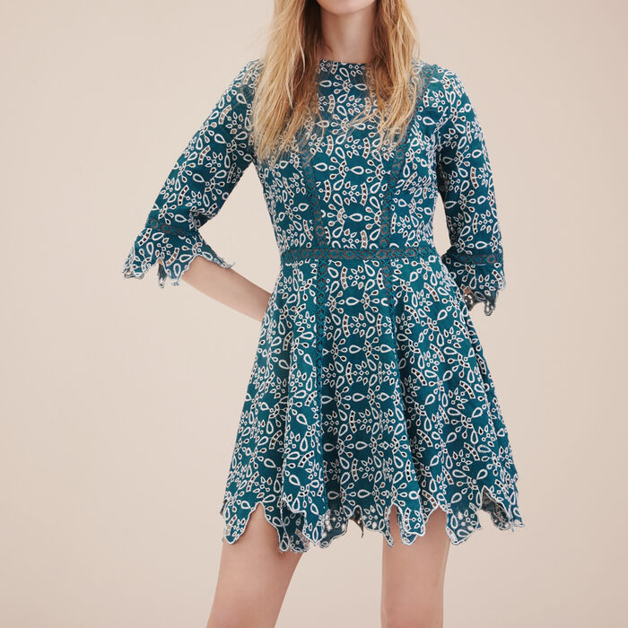 Short guipure dress -  - MAJE