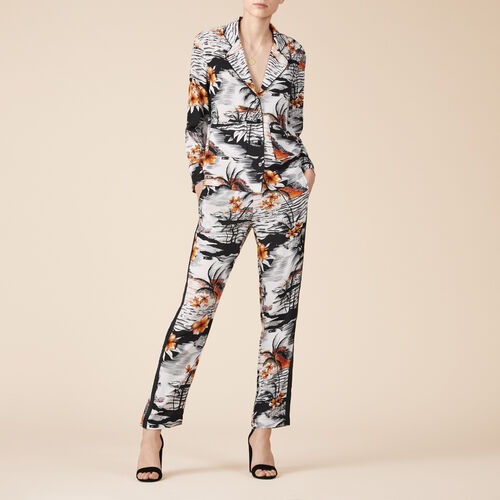 Floaty printed trousers - Trousers - MAJE