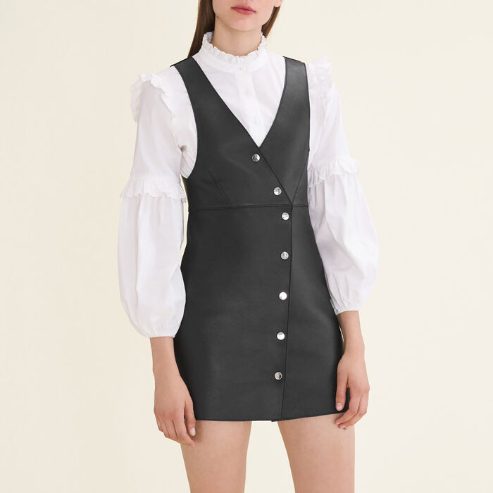 Leather sleeveless dress - This week - MAJE