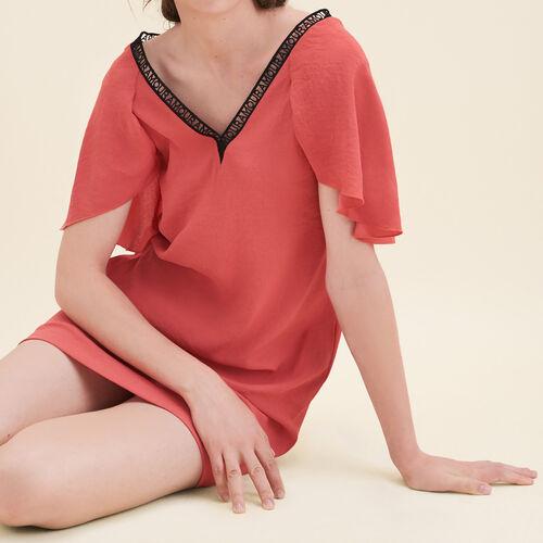 Crêpe straight-cut dress - Dresses - MAJE