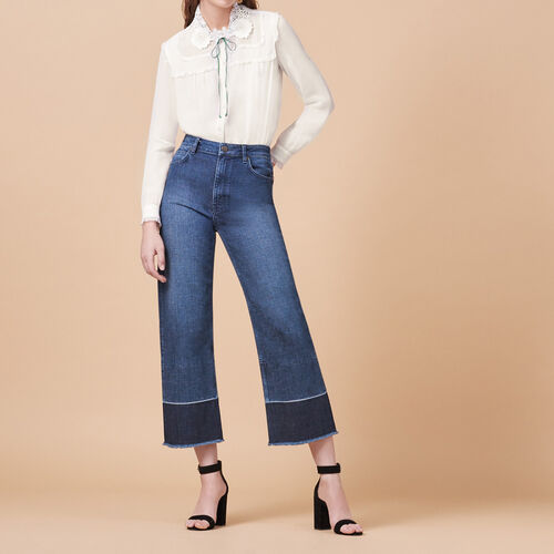 Wide-leg jeans with fringing - Jeans - MAJE