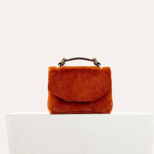 Faux fur evening bag - Shoulder bag - MAJE