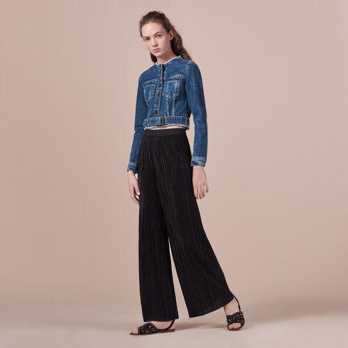 Short denim jacket - Blazers - MAJE