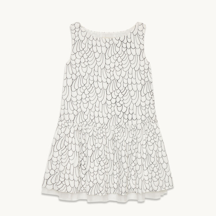 Embroidered sleeveless dress - Dresses - MAJE