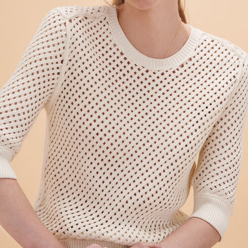Woven knit jumper - Knitwear - MAJE