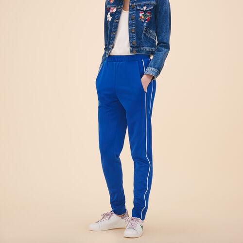 Sportswear-inspired trousers - Trousers - MAJE