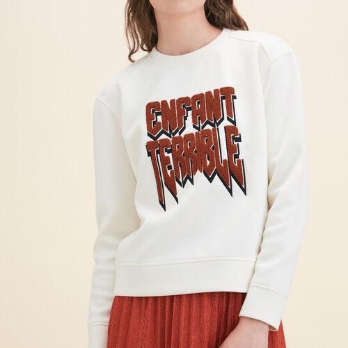 Neoprene Sweatshirt - Tops - MAJE