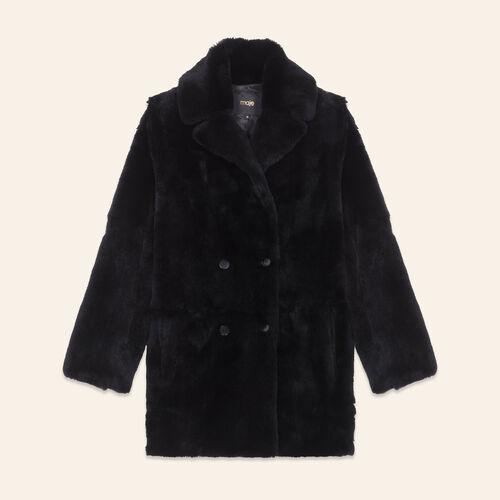 Rabbit coat - Coats - MAJE