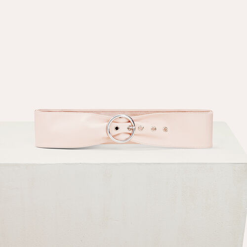 Wide leather belt - Belts - MAJE