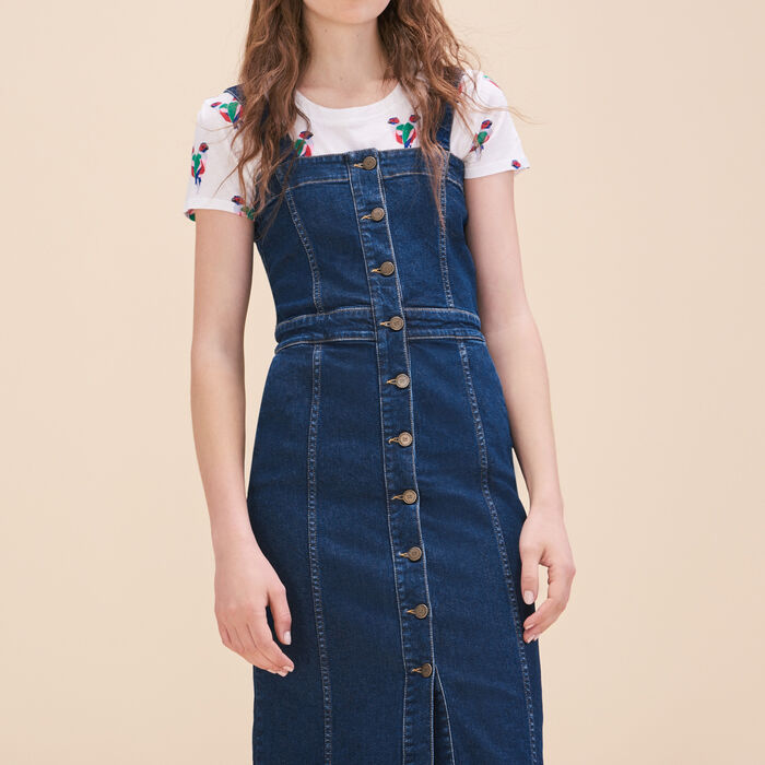 Denim strappy dress -  - MAJE