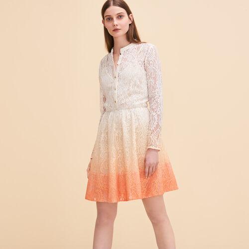 Lace puffball dress - Dresses - MAJE
