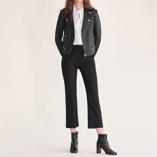 Formal wool trousers - Trousers - MAJE