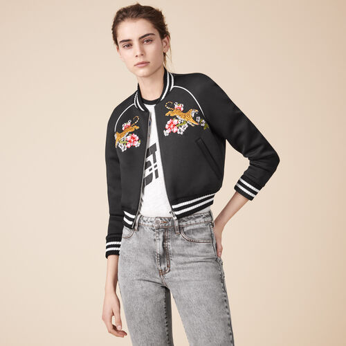 Embroidered bomber jacket - Jackets & Bombers - MAJE