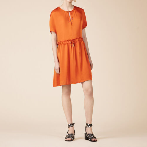 Floaty short-sleeved dress - Dresses - MAJE