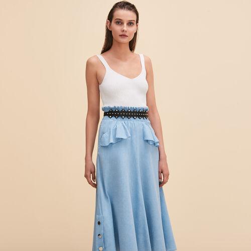 Midi frilled skirt - Skirts & Shorts - MAJE