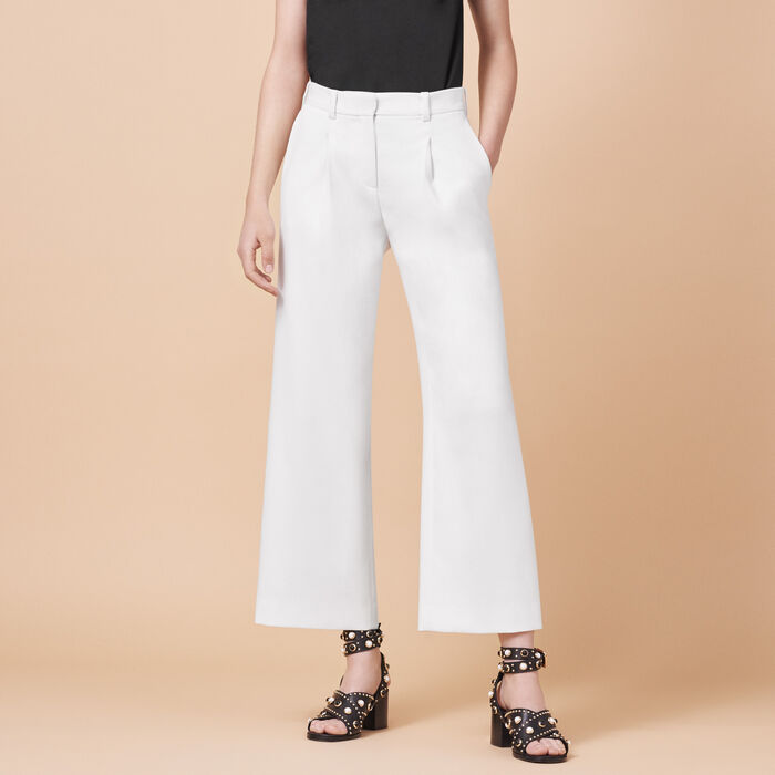 Wide trousers with darts -  - MAJE