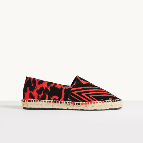 Printed espadrilles - Shoes - MAJE