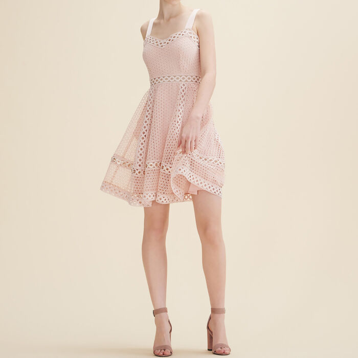 Embroidered strappy dress -  - MAJE
