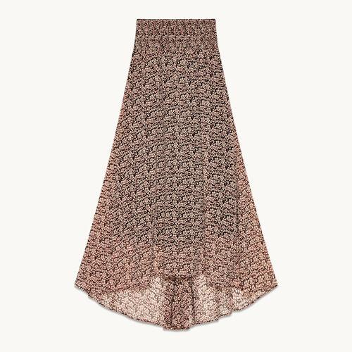Long asymmetrical printed skirt - Skirts & Shorts - MAJE