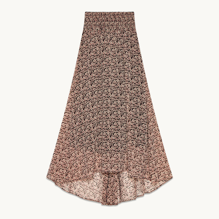 Long asymmetrical printed skirt - Skirts & Shorts - MAJE