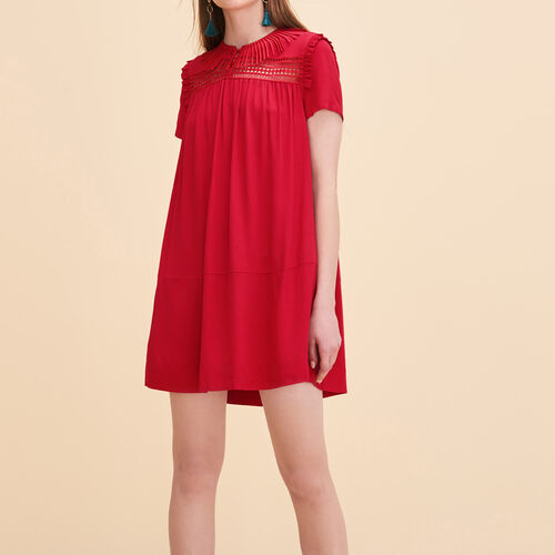 Floaty dress with embroidery - Dresses - MAJE