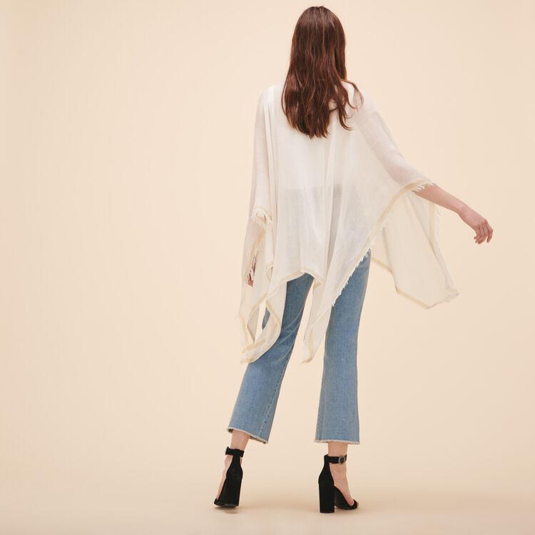 Wool blend poncho - Scarves - MAJE