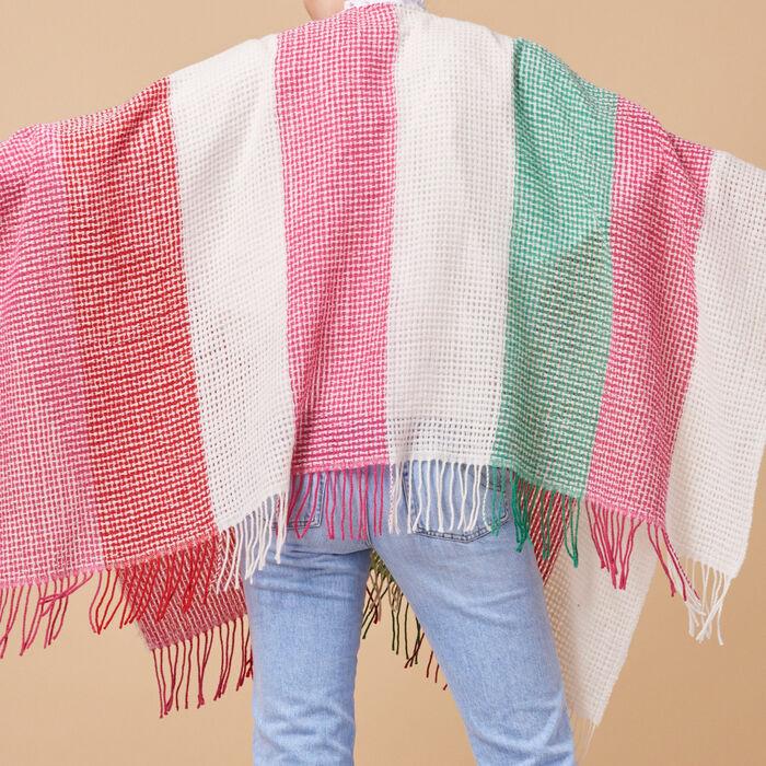Wool-blend striped poncho - Scarves - MAJE