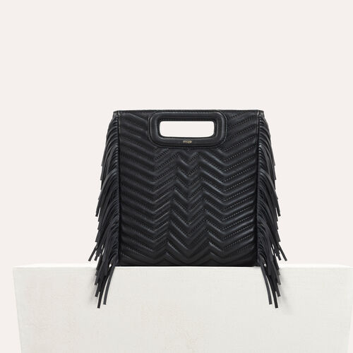 Quilted leather M bag - M bag - MAJE