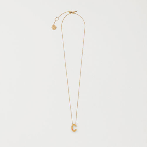 Necklace with initial pendant - Jewelry - MAJE