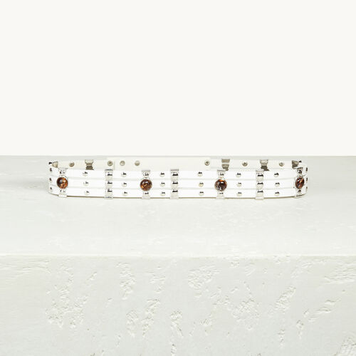 Leather belt with studs - Belts - MAJE
