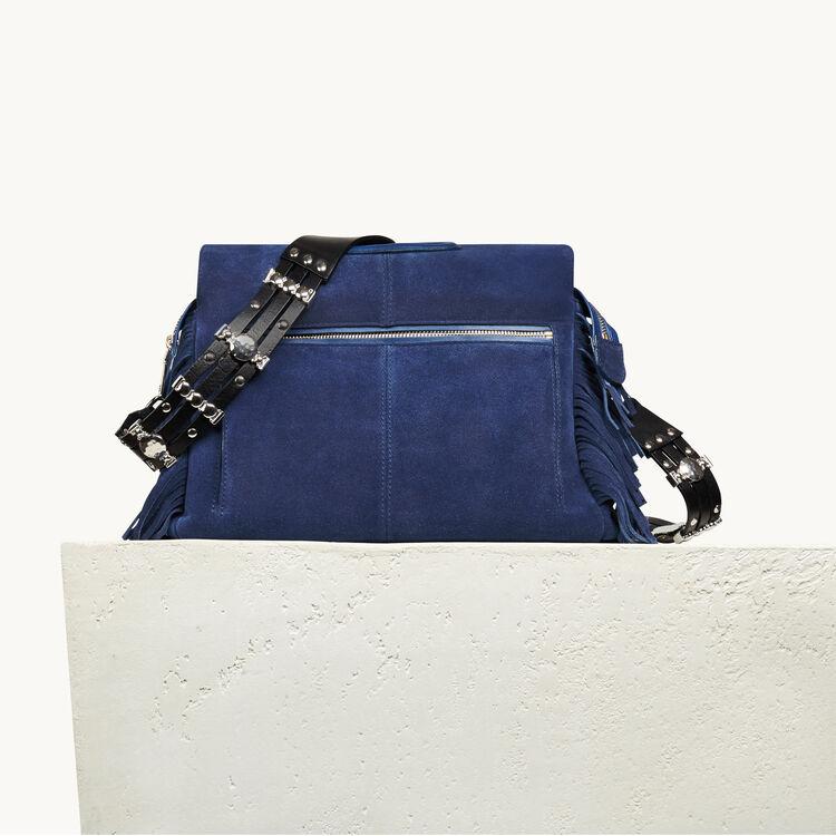Leather shoulder strap for bag - Anses - MAJE