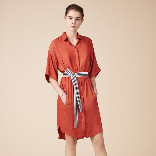 Floaty shirt dress - Best Sellers - MAJE