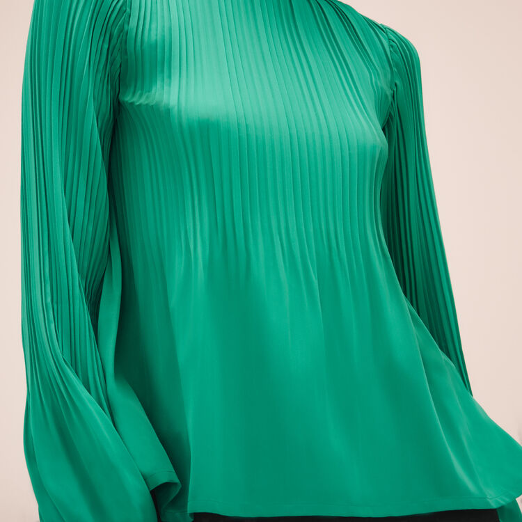 Top with pleating - Tops - MAJE