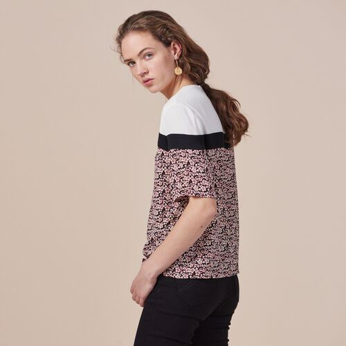 Printed tricolour top - Tops - MAJE