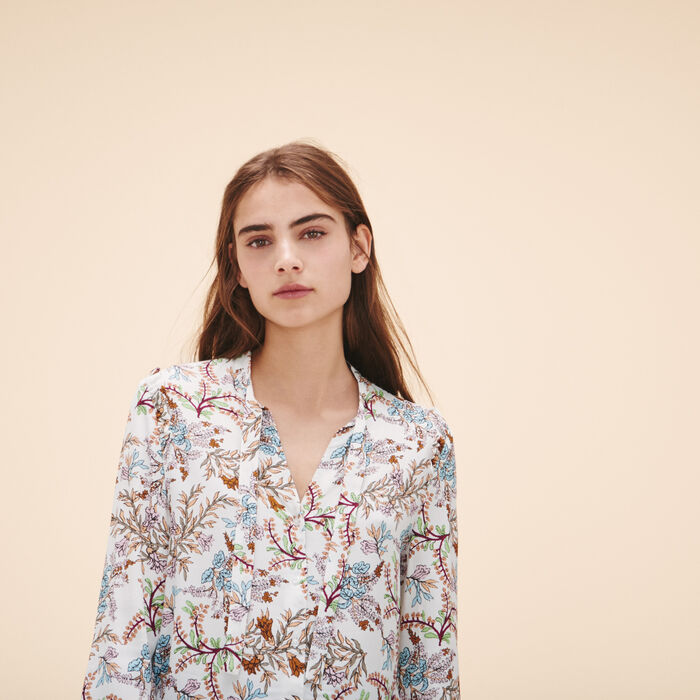 Printed floral blouse -  - MAJE