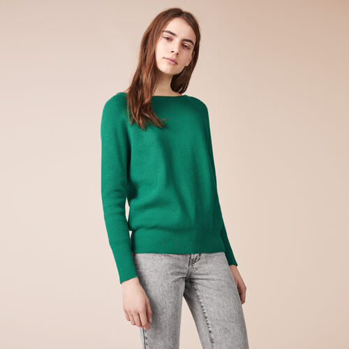 Ribbed knit jumper with detailed back - Knitwear - MAJE