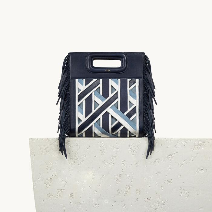 Leather M bag with braiding - Voir Tout - MAJE