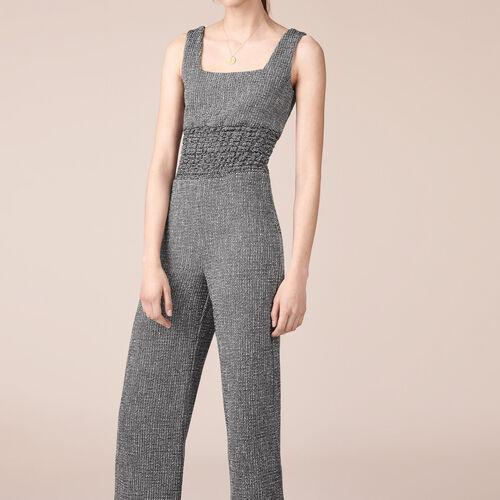 Jacquard jumpsuit - Trousers - MAJE