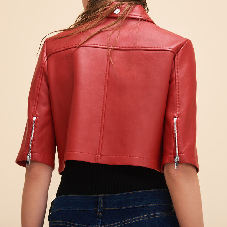 Cropped leather jacket - Jackets & Bombers - MAJE