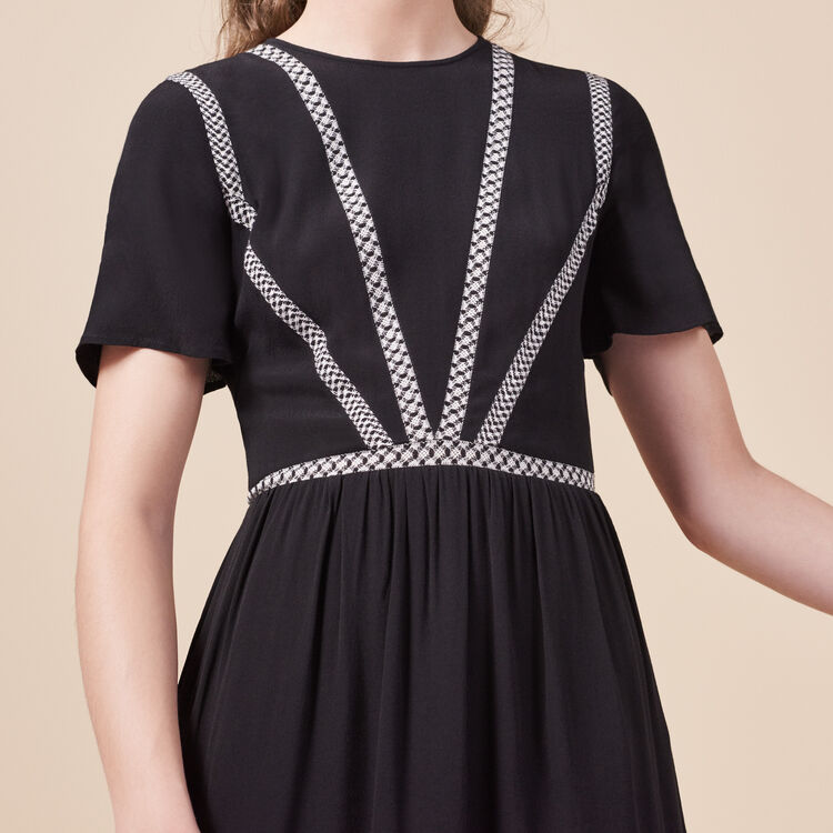 Short crepe dress - Dresses - MAJE