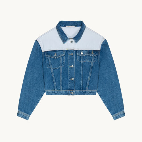 Two-tone denim jacket - Blazers - MAJE
