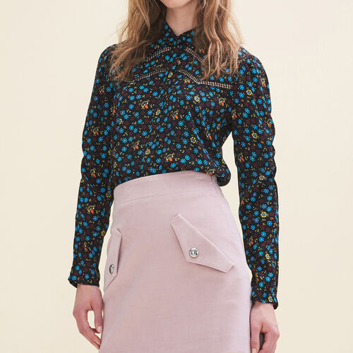 Floral-print blouse - Tops - MAJE