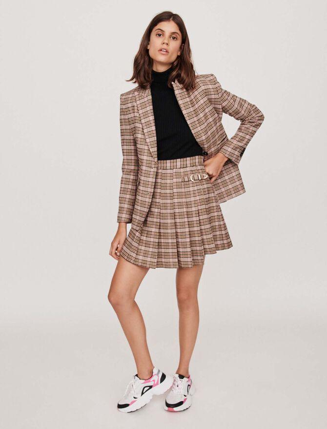 Pleated plaid kilt-style skirt - SoldesFR_Jupes_shorts - MAJE