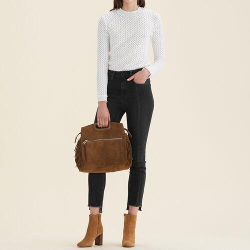 Straight-cut jeans with asymmetric hem - Jeans - MAJE